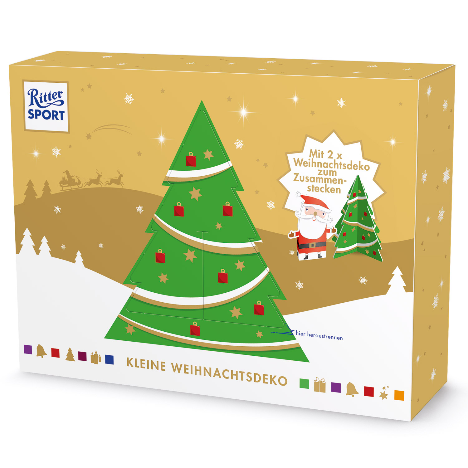 ritter sport kleine weihnachtsdeko online kaufen im. Black Bedroom Furniture Sets. Home Design Ideas