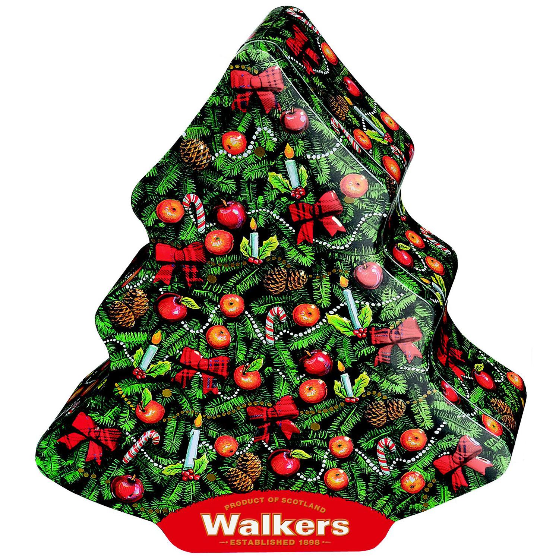 walkers shortbread christmas trees tin 225g online. Black Bedroom Furniture Sets. Home Design Ideas