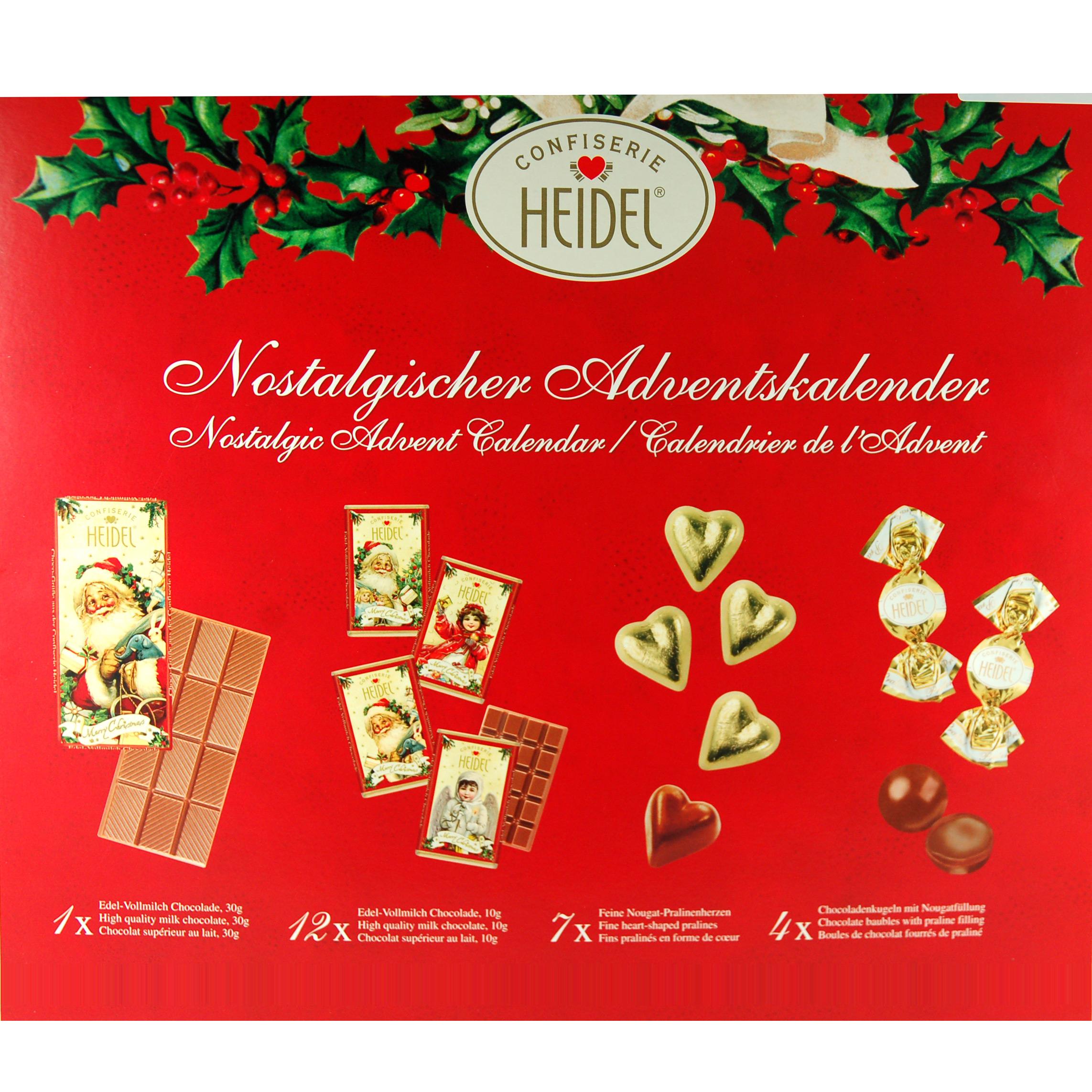 heidel confiserie adventskalender weihnachts nostalgie. Black Bedroom Furniture Sets. Home Design Ideas