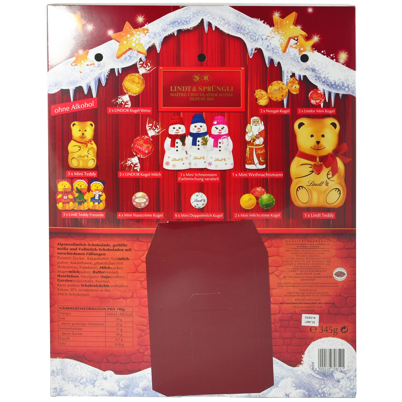 lindt teddy adventskalender online kaufen im world of sweets shop. Black Bedroom Furniture Sets. Home Design Ideas