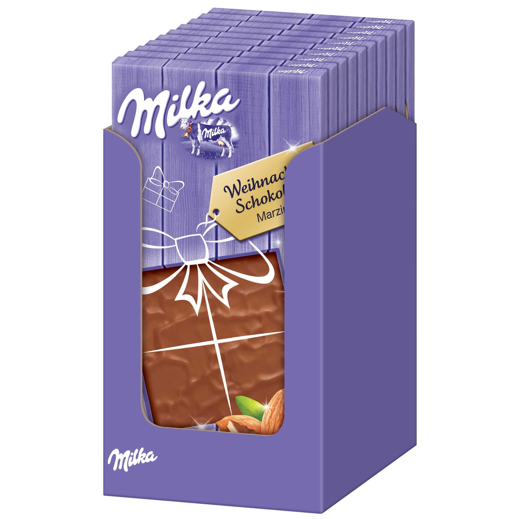 milka weihnachts schokolade marzipan online kaufen im. Black Bedroom Furniture Sets. Home Design Ideas
