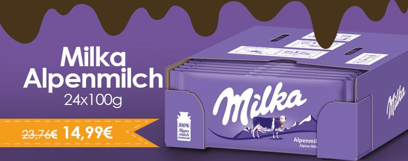 Milka Alpenmilch 24x100g