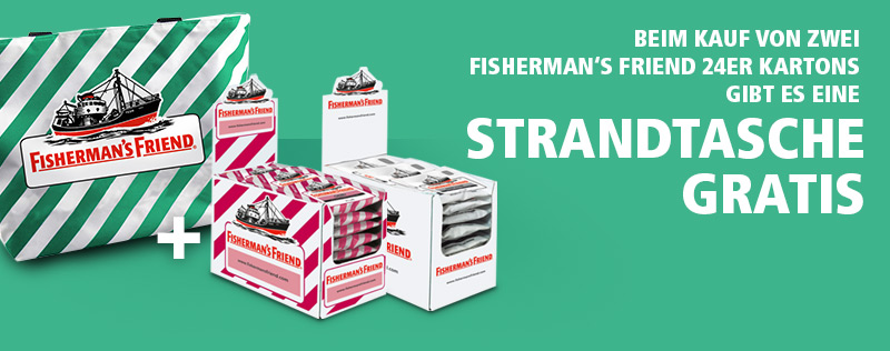 Fisherman's Friend Gratis Strandtasche