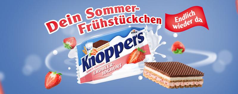 Knoppers|Erdbeer-Joghurt