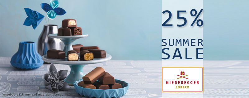 Niederegger 25% Summer Sale
