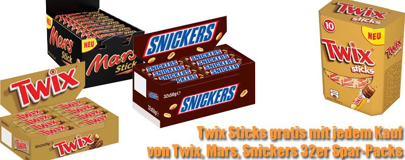 Twix Sticks gratis