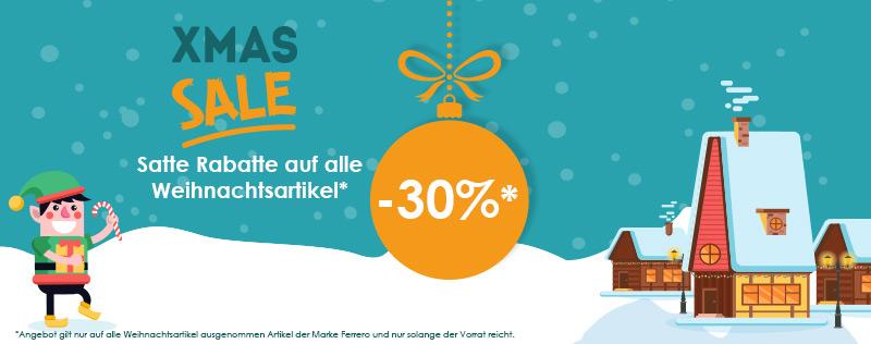 -30% auf alle Weihnachtsartikel sparen