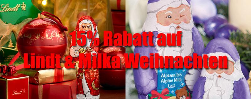 Lindt & Milka Weihnachts Rabatt