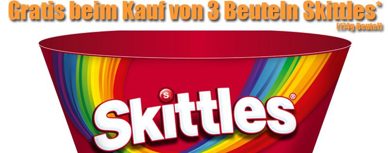 Skittles Schale gratis