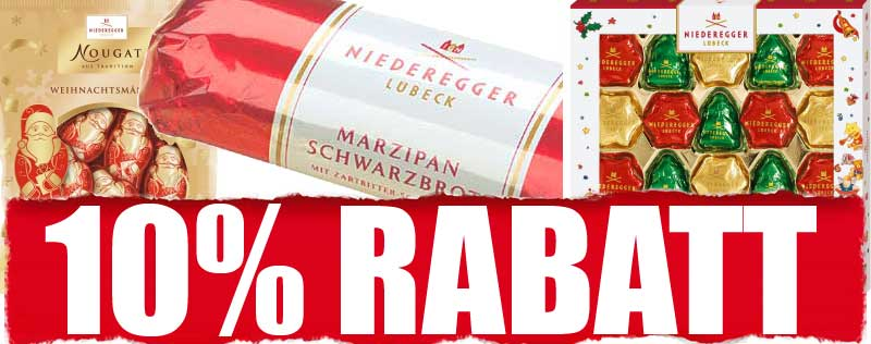 Niederegger Weihnachten 10% Rabatt
